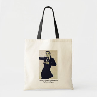 Portrait Of Max Oppenheimer By Schiele Egon Canvas Bags
