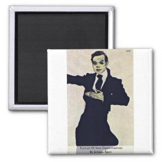 Portrait Of Max Oppenheimer By Schiele Egon Fridge Magnet