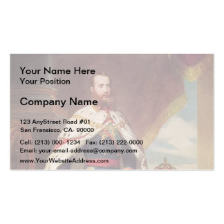 Portrait of Maximilian by Franz Winterhalter Business Cards