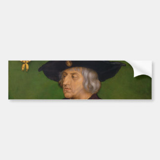 Portrait of Maximilian I by Albrecht Durer Bumper Sticker