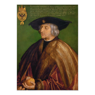 Portrait of Maximilian I by Albrecht Durer Card