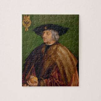 Portrait of Maximilian I by Albrecht Durer Jigsaw Puzzle