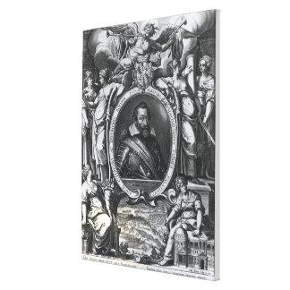 Portrait of Maximilian I of Bavaria Canvas Print