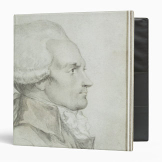 Portrait of Maximilien de Robespierre 3 Ring Binder
