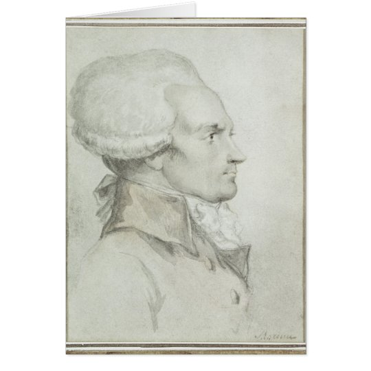Portrait of Maximilien de Robespierre Card