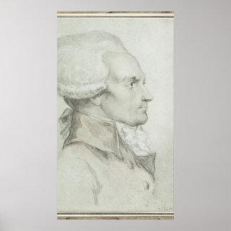 Portrait of Maximilien de Robespierre Poster