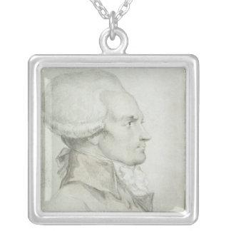 Portrait of Maximilien de Robespierre Silver Plated Necklace