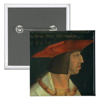 Portrait of Maximillian I 2 Inch Square Button