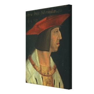 Portrait of Maximillian I Canvas Print