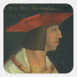 Portrait of Maximillian I Square Sticker