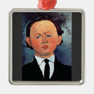 Portrait of Mechan by Amedeo Modigliani Christmas Tree Ornaments