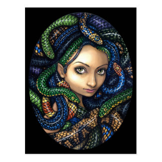 """Portrait of Medusa"" Postcard"