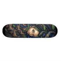 Portrait of Medusa SKATEBOARD snake mythology goth