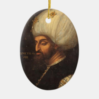 Portrait of Mehmed II by Paolo Veronese Christmas Tree Ornaments