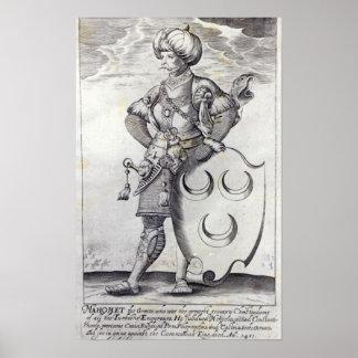 Portrait of Mehmed II Posters
