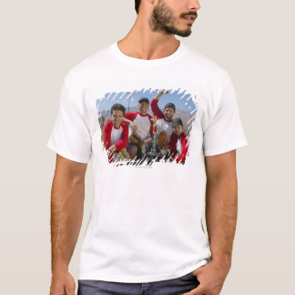 Portrait of Men in a Winning Baseball Team with T-Shirt