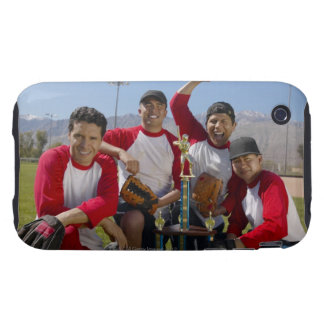 Portrait of Men in a Winning Baseball Team with Tough iPhone 3 Cover