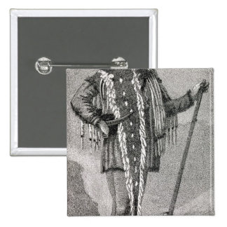 Portrait of Meriwether Lewis  engraved 2 Inch Square Button