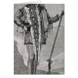 Portrait of Meriwether Lewis  engraved Card