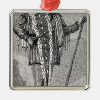 Portrait of Meriwether Lewis  engraved Metal Ornament