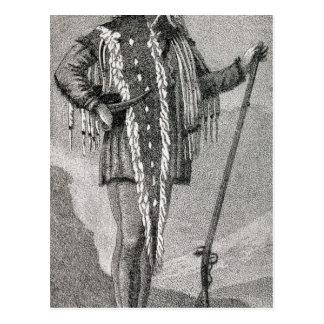 Portrait of Meriwether Lewis  engraved Postcard