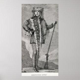 Portrait of Meriwether Lewis  engraved Poster
