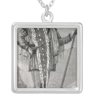 Portrait of Meriwether Lewis  engraved Silver Plated Necklace