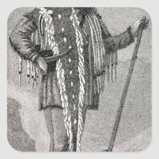 Portrait of Meriwether Lewis  engraved Square Sticker