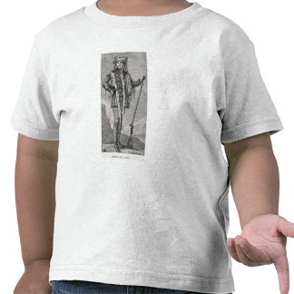 Portrait of Meriwether Lewis engraved T-shirts