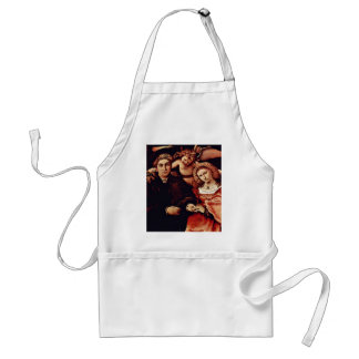 Portrait Of Messer Marsilio And His Wife By Lotto Apron
