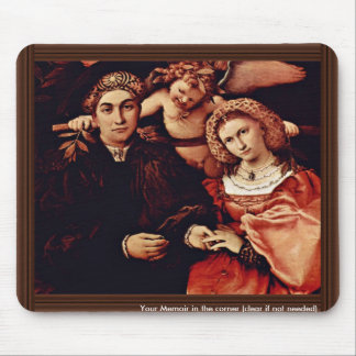 Portrait Of Messer Marsilio And His Wife By Lotto Mouse Pad