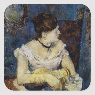 Portrait of Mette Gauguin, the Artist's Wife Square Sticker