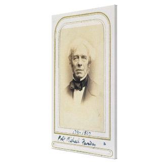 Portrait of Michael Faraday (1791-1867) (albumen p Canvas Print