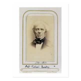 Portrait of Michael Faraday (1791-1867) (albumen p Postcard