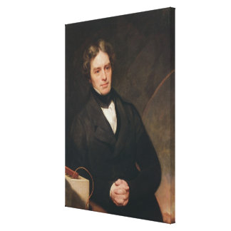 Portrait of Michael Faraday  1841-42 Canvas Print