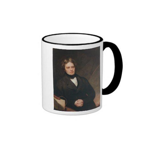 Portrait of Michael Faraday  1841-42 Ringer Coffee Mug