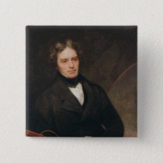 Portrait of Michael Faraday  1841-42 Pinback Button