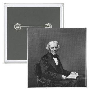 Portrait of Michael Faraday Button