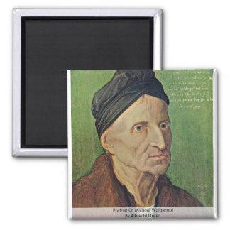 Portrait Of Michael Wolgemut By Albrecht Dürer Refrigerator Magnets