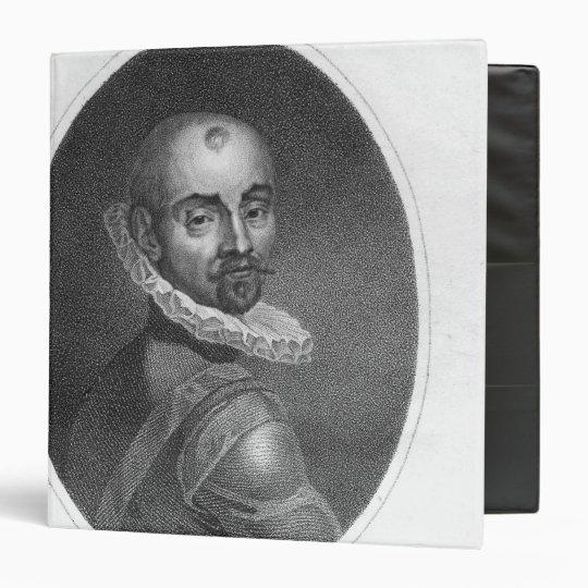Portrait of Michel de Montaigne 3 Ring Binder