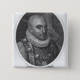 Portrait of Michel de Montaigne Button