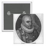 Portrait of Michel de Montaigne Button