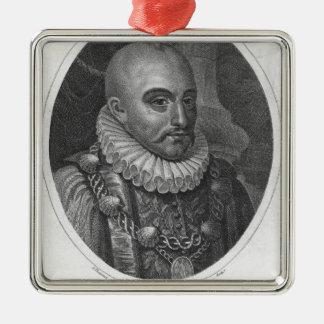 Portrait of Michel de Montaigne Metal Ornament