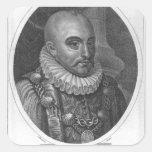 Portrait of Michel de Montaigne Square Sticker