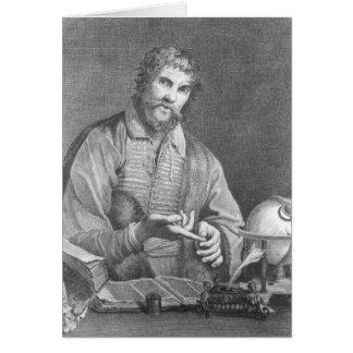 Portrait of Michel de Nostradame Card