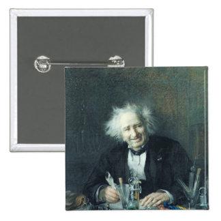 Portrait of Michel-Eugene Chevreul  1888 Pinback Button