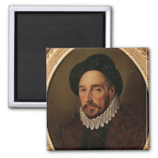 Portrait of Michel Eyquem de Montaigne 2 Inch Square Magnet