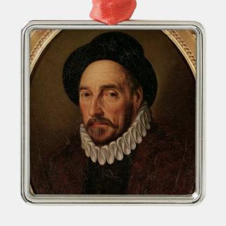Portrait of Michel Eyquem de Montaigne Metal Ornament