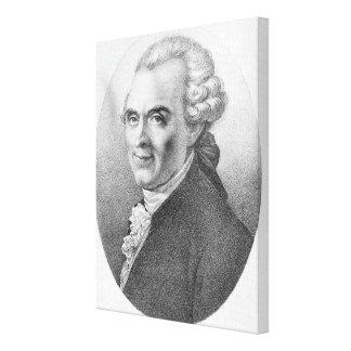 Portrait of Michel-Jean Sedaine Canvas Print