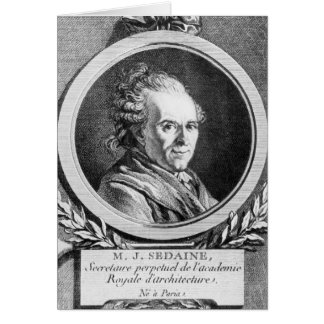 Portrait of Michel-Jean Sedaine Card